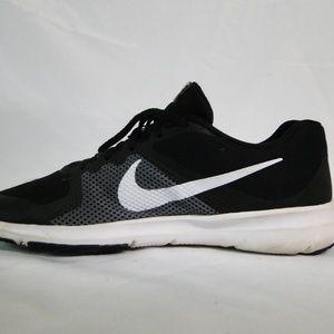 Nike FLEX CONTROL Mens Black/White-Dark Grey 898459-010 Running Shoes Sz 12